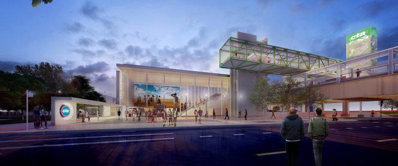 Damen CTA Green Line Station. Rendering by Perkins + Will