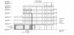 Elevation for 6 N Carpenter Street. Drawing by Sullivan Goulette Wilson Architects