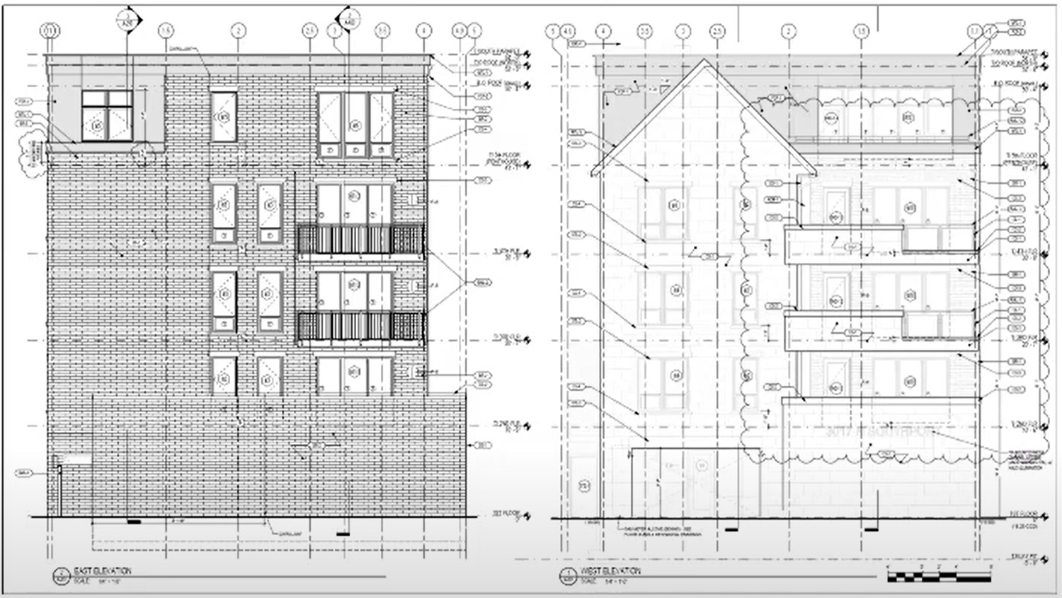 Elevations for 3015 N Southport Avenue. Drawing by OKW Architects