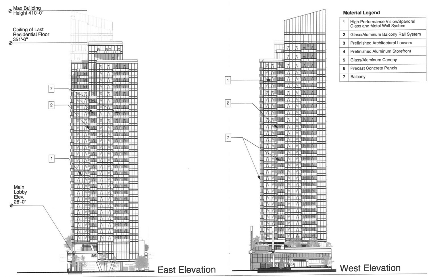 Elevations of 354 N Union Avenue. Drawing by Pappageorge Haymes
