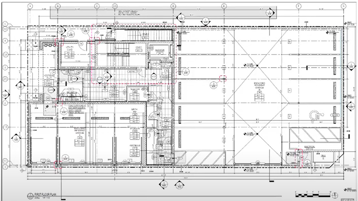 Ground Floor Plan for 3015 N Southport Avenue. Drawing by OKW Architects