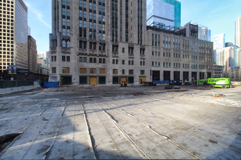 Tribune Tower conversion and plaza renovation