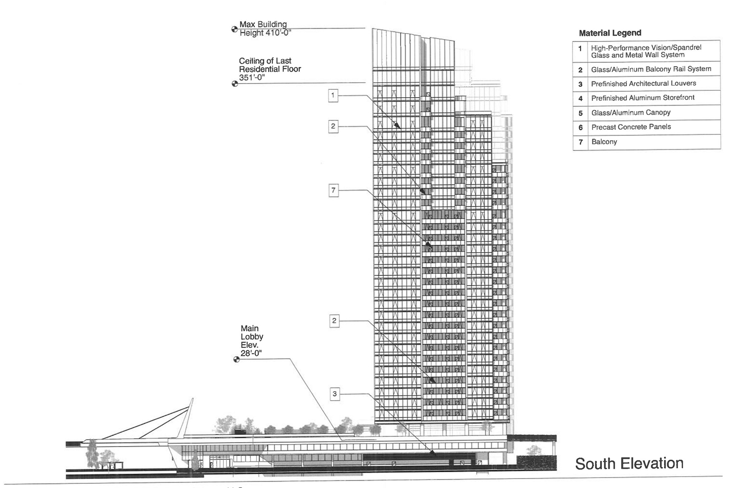 South Elevation of 354 N Union Avenue. Drawing by Pappageorge Haymes