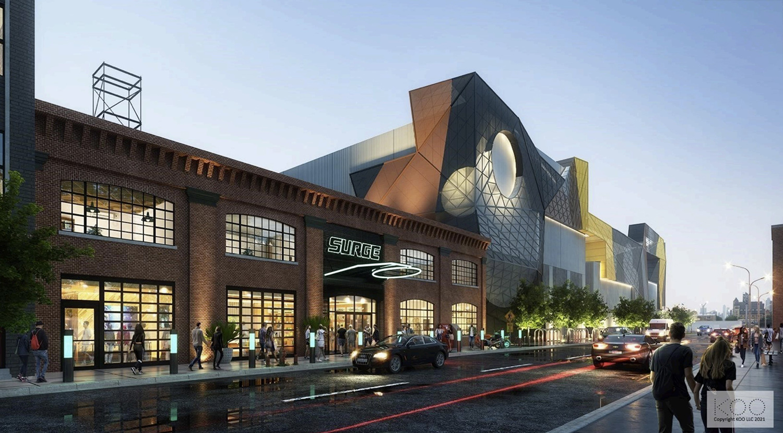 Surge eSports Stadium at 2500 S Wabash Avenue. Rendering by KOO Architecture