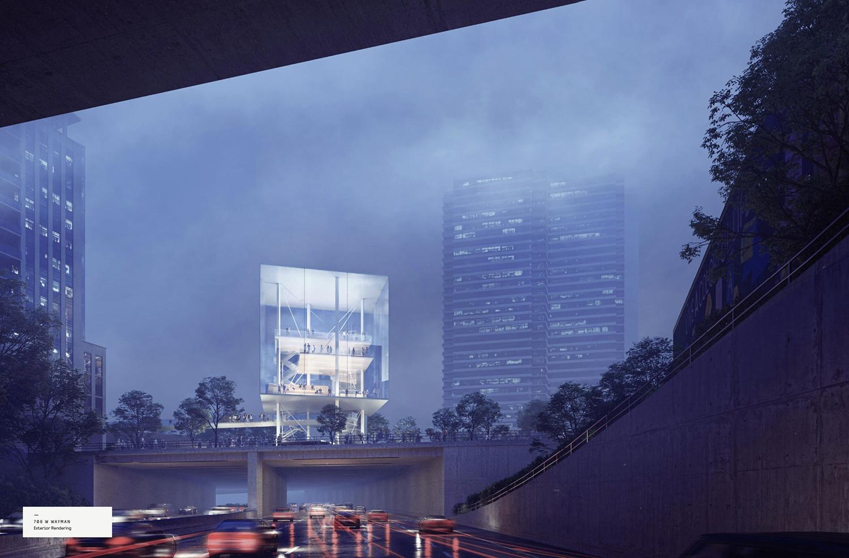View of 708 W Wayman Street. Rendering by Gensler