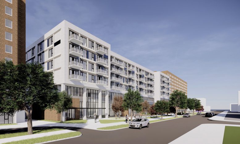 2700 N Sheffield Avenue at Edith Spurlock Apartments. Rendering by RATIO