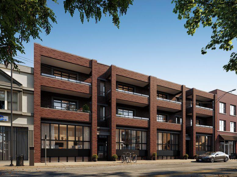 3010-14 W Montrose Avenue. Rendering by 360 Design Studio