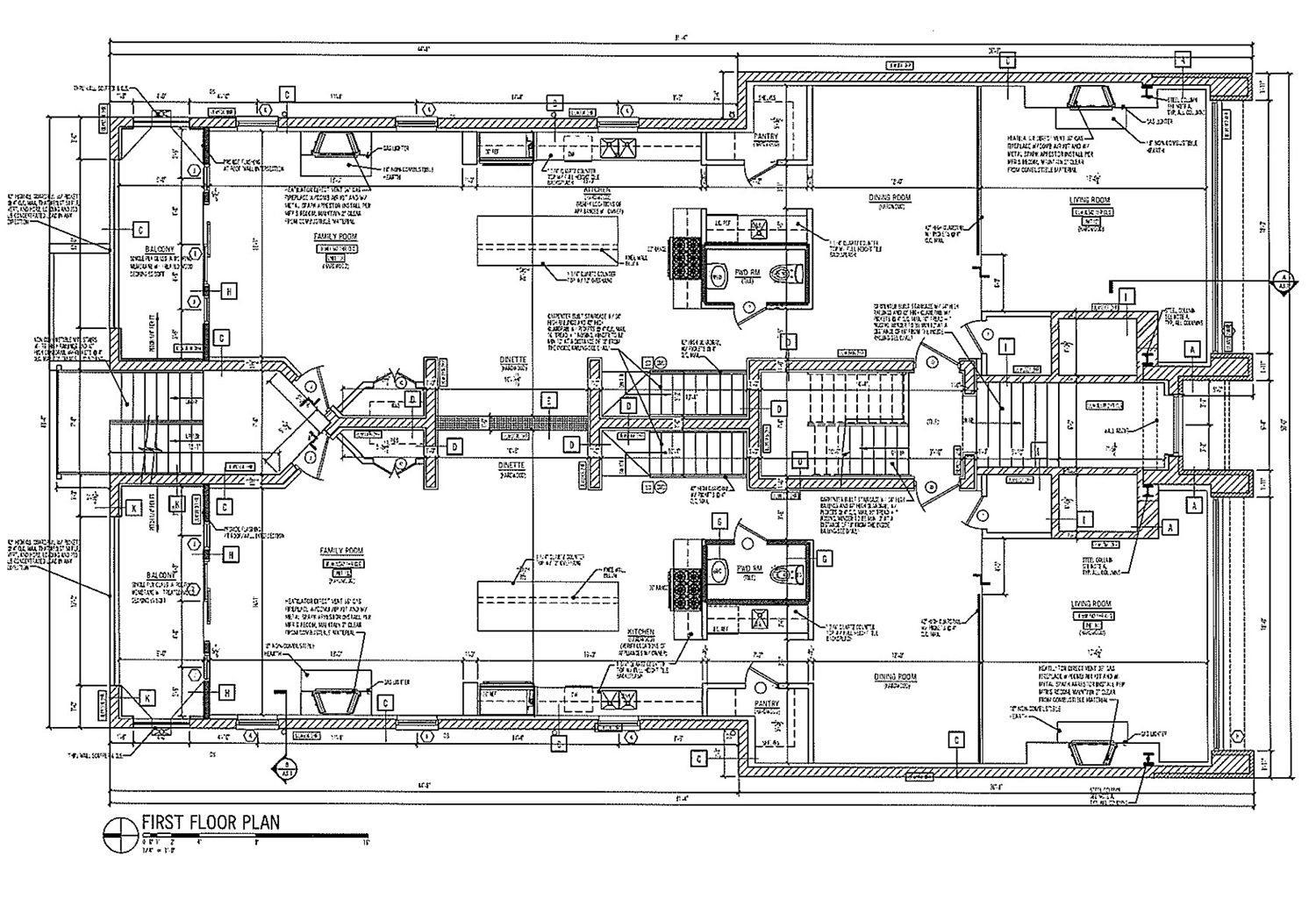 Ground Floor Plan for 3010 W Montrose Avenue. Drawing by 360 Design Studio
