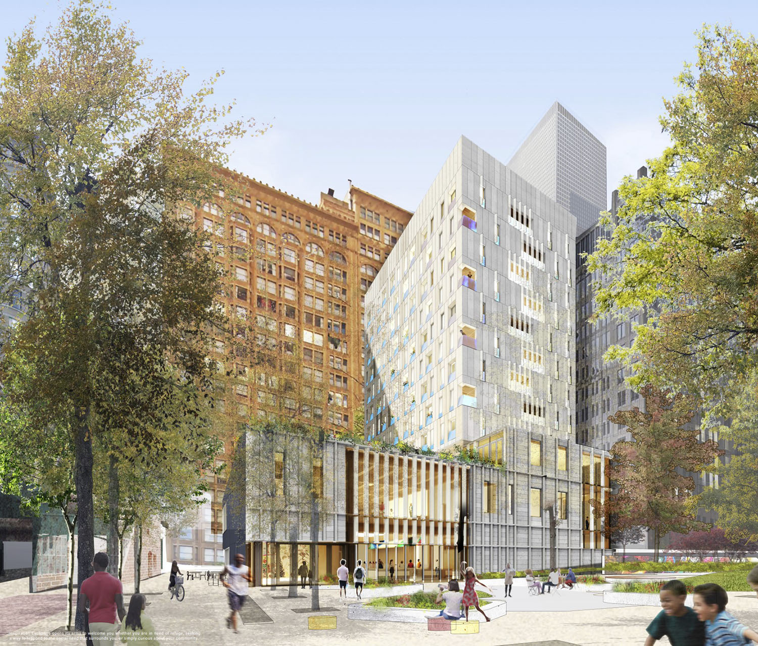 Inspiration Exchange. Rendering by MKB Architects