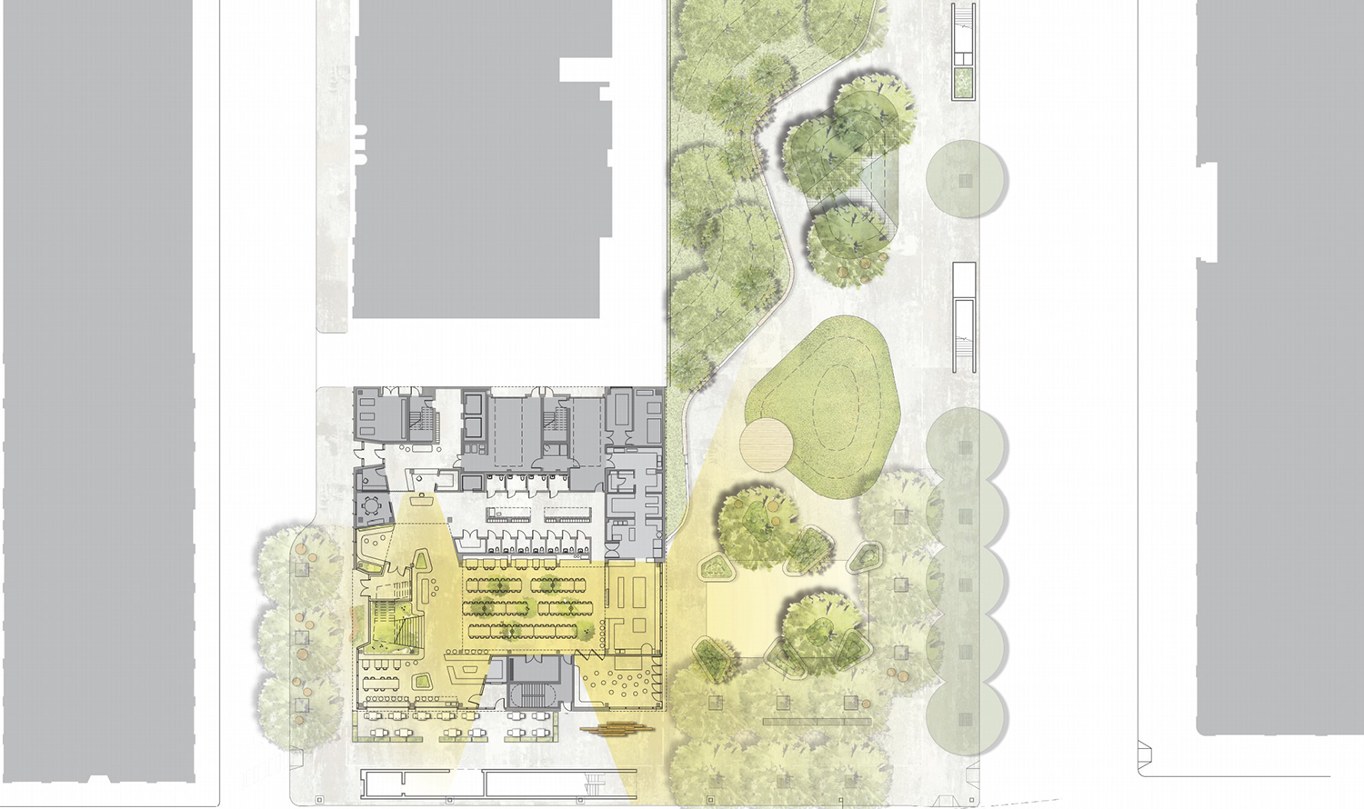 Site Plan for Inspiration Exchange. Drawing by MKB Architects