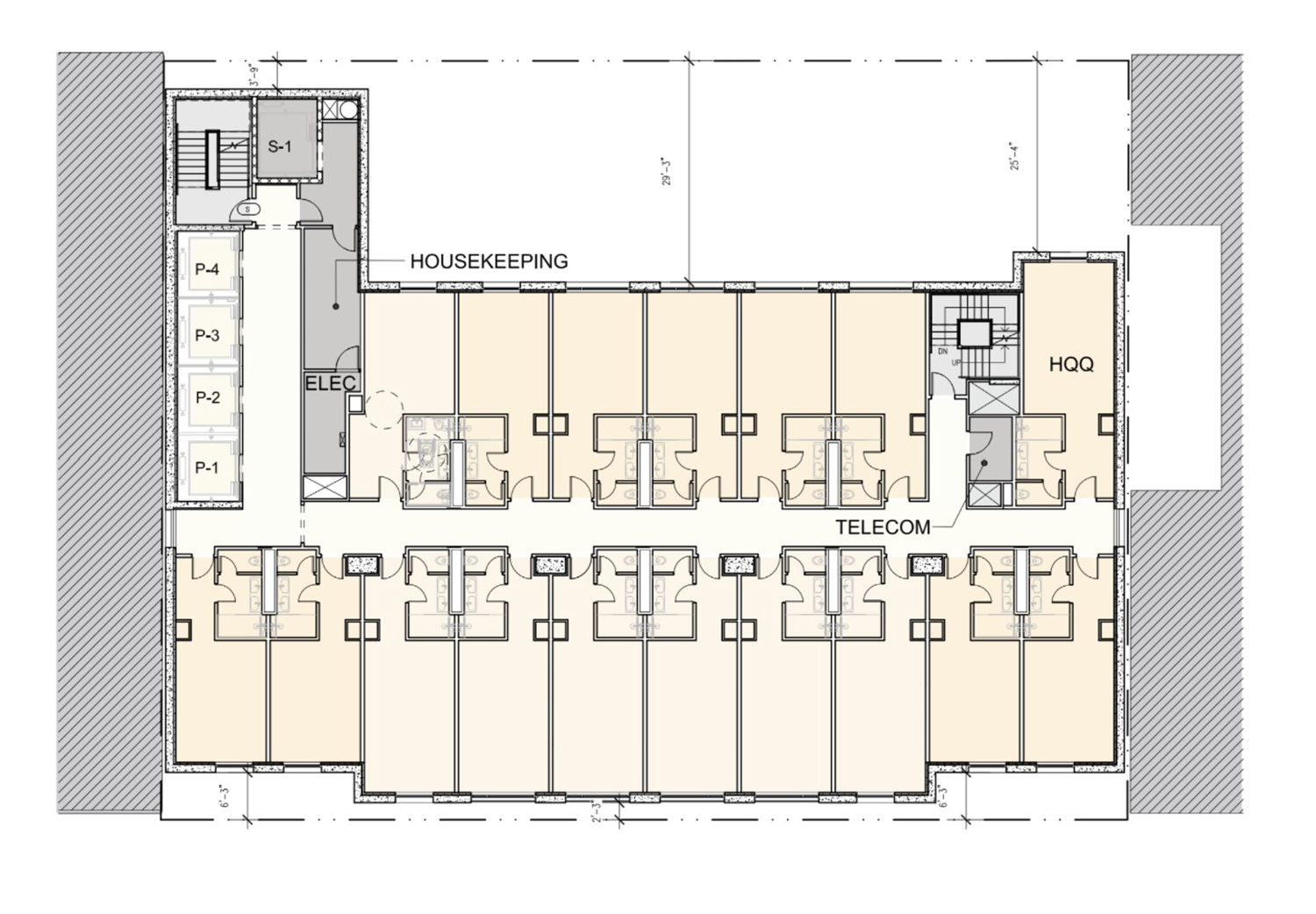 Typical Guest Floor Plan for 150 E Ontario Street. Drawing by Lucien LaGrange Studio