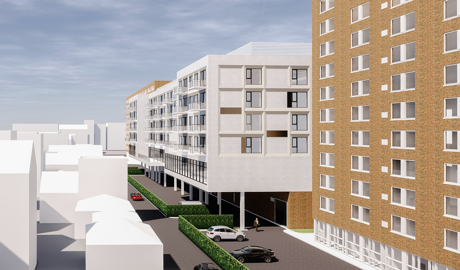 View of 2700 N Sheffield Avenue at Edith Spurlock Apartments. Rendering by RATIO