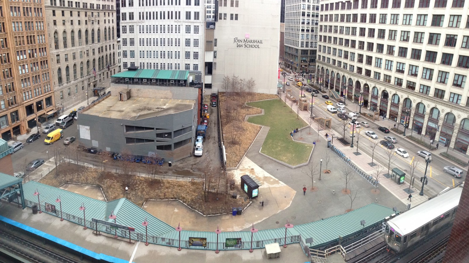 View of Downtown Loop Site at 331 S Plymouth Court. Image by C40