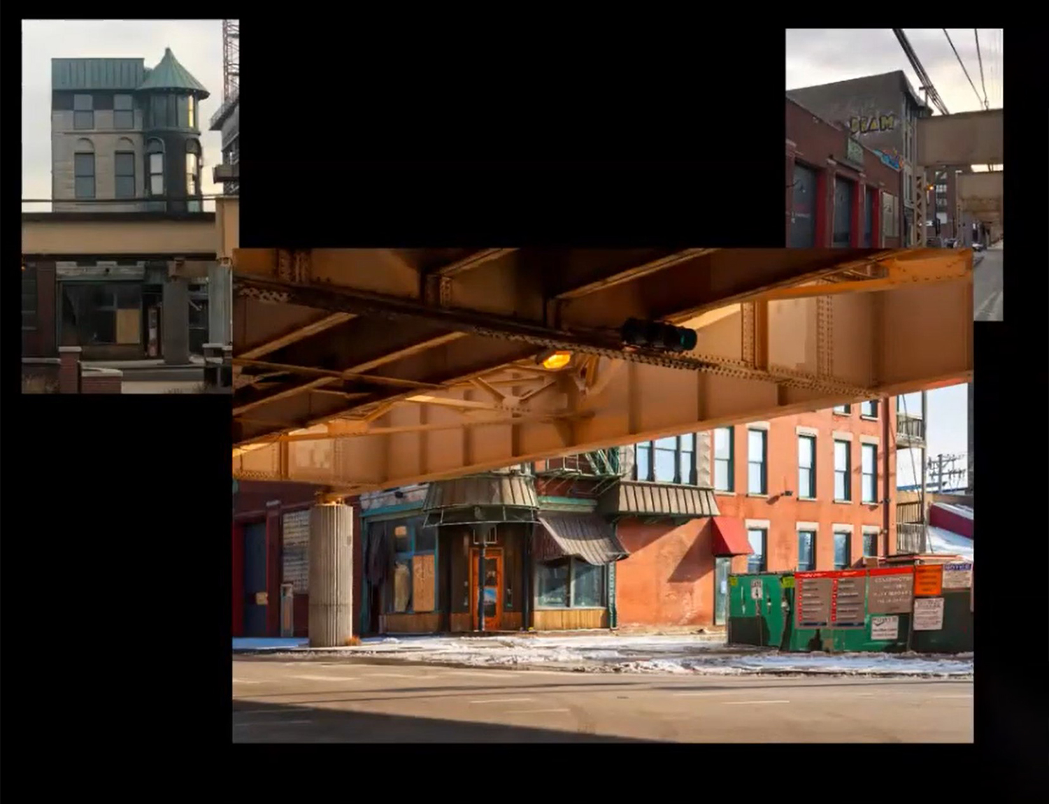 Views of Former Schlitz Brewery-Tied House Bound by CTA L Tracks. Image by CCL