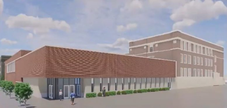 Wendell Phillips High School Addition. Rendering by Moody Nolan
