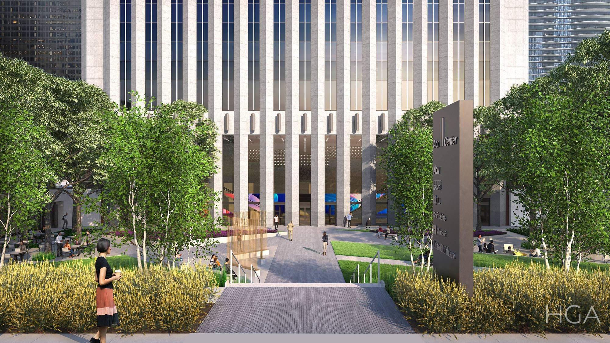 Aon Center Plaza renovation