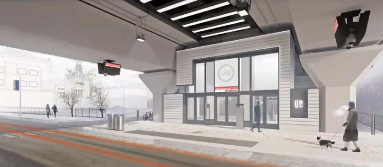 Lawrence CTA L Station. Rendering by EXP