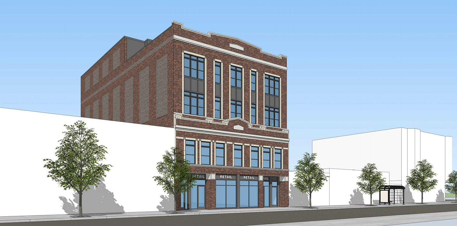 3160 N Broadway. Rendering by Sullivan Goulette Wilson Architects