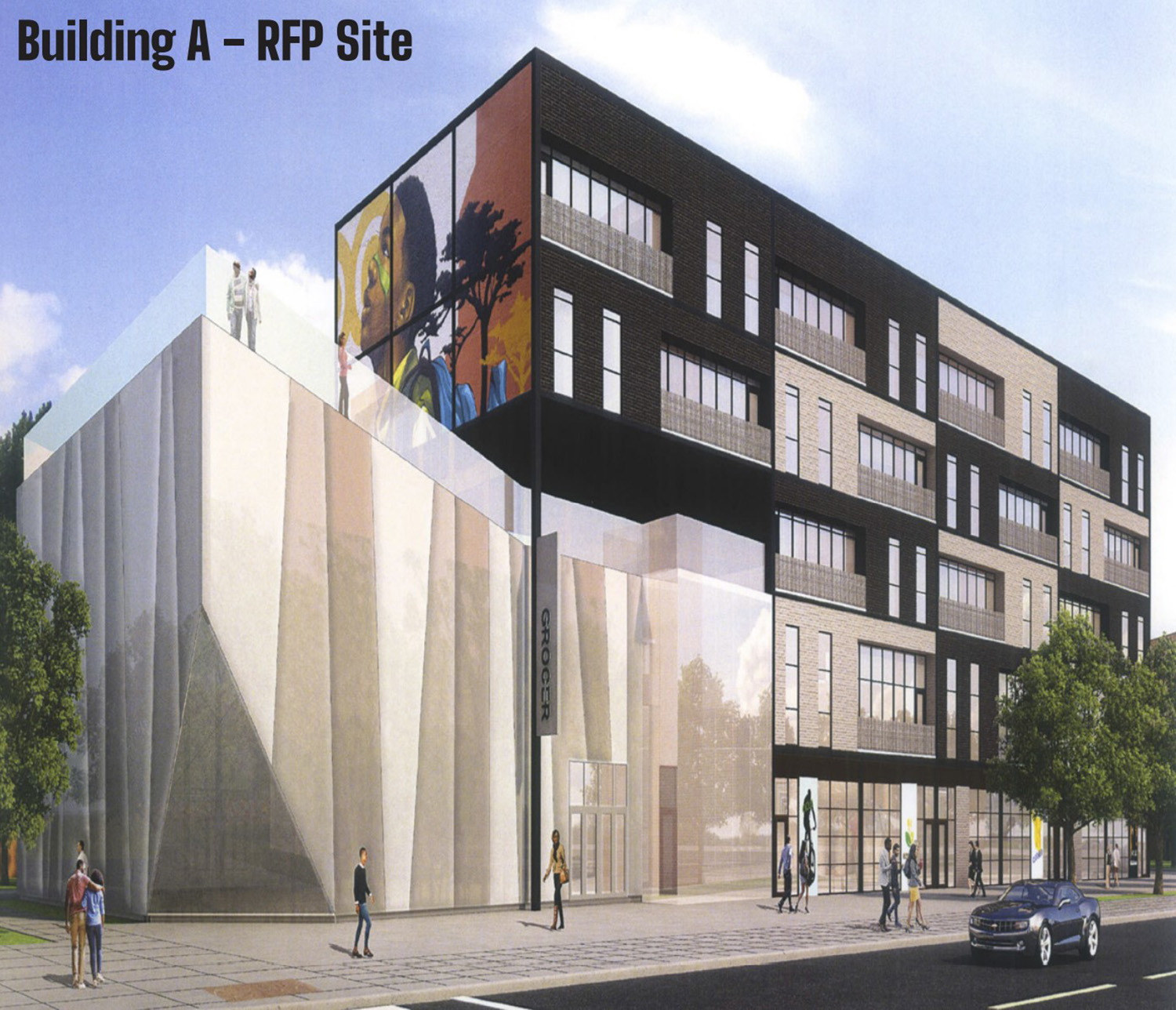 47th/Vincennes Partnership. Rendering by Brook Architecture, Revere Properties Architects, and Site Design Group