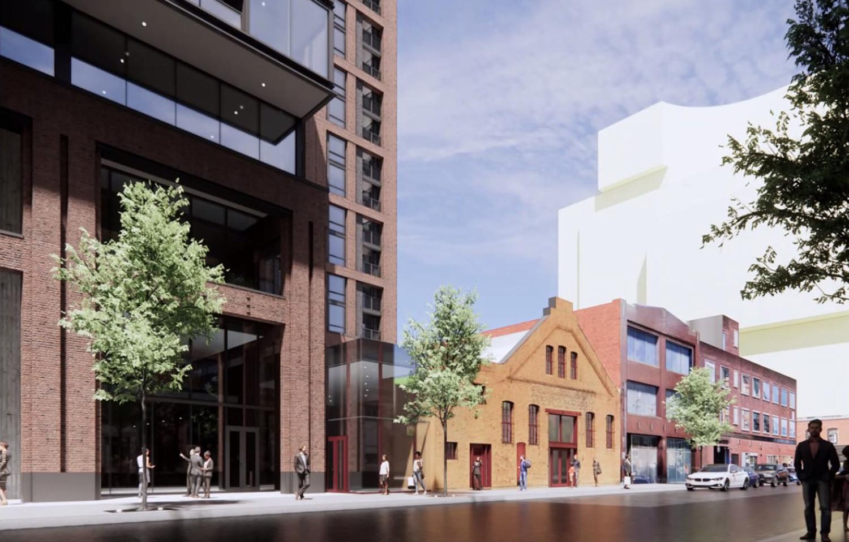 View of 210 N Aberdeen Street. Rendering by NORR