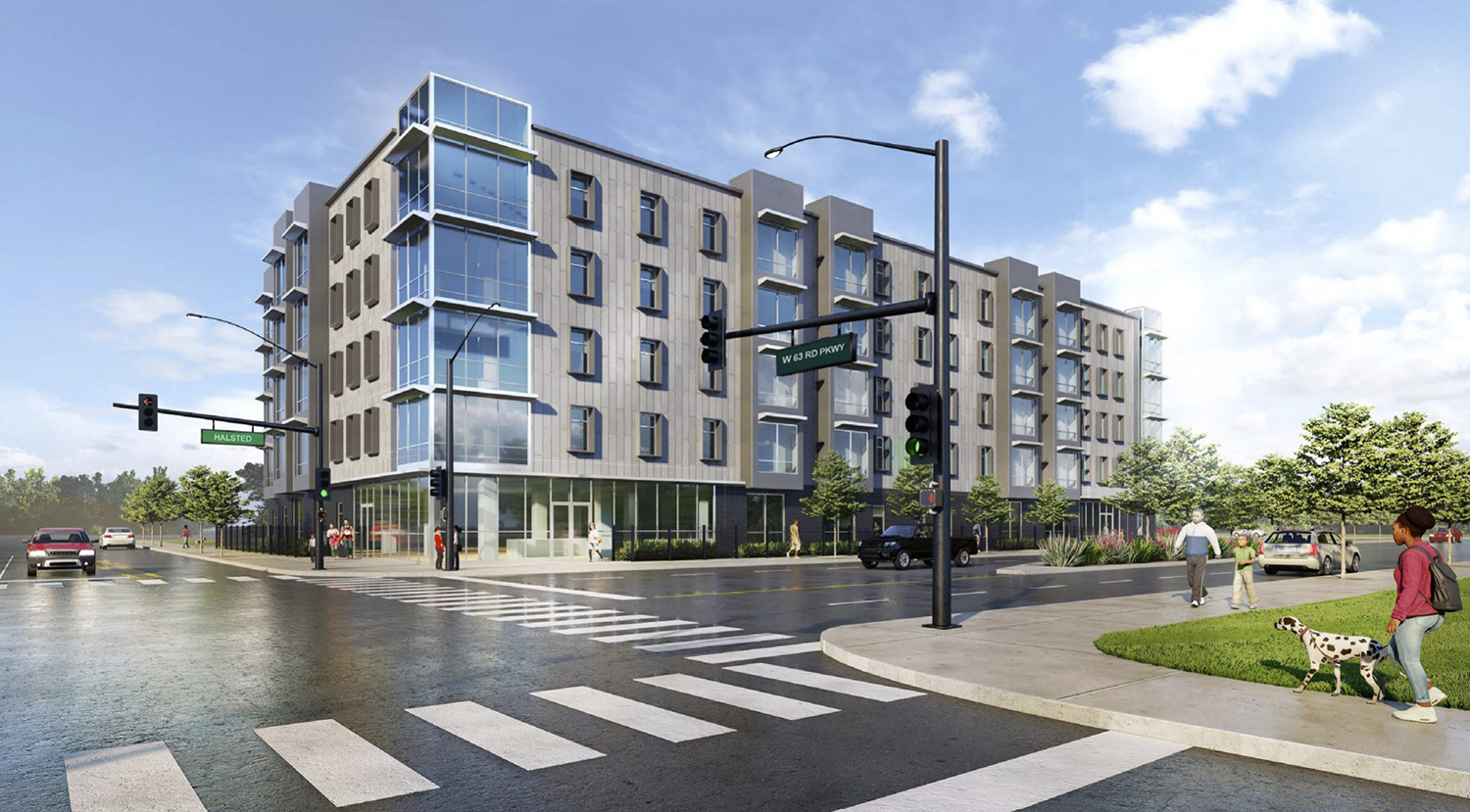 6100 S Halsted Street. Rendering by RDL Architects and Johnson & Lee Architects