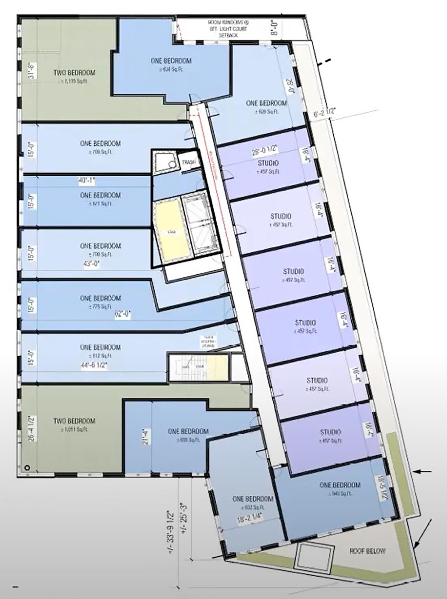 Residential Floor Plan for 4715 N Western Avenue. Drawing by DesignBridge