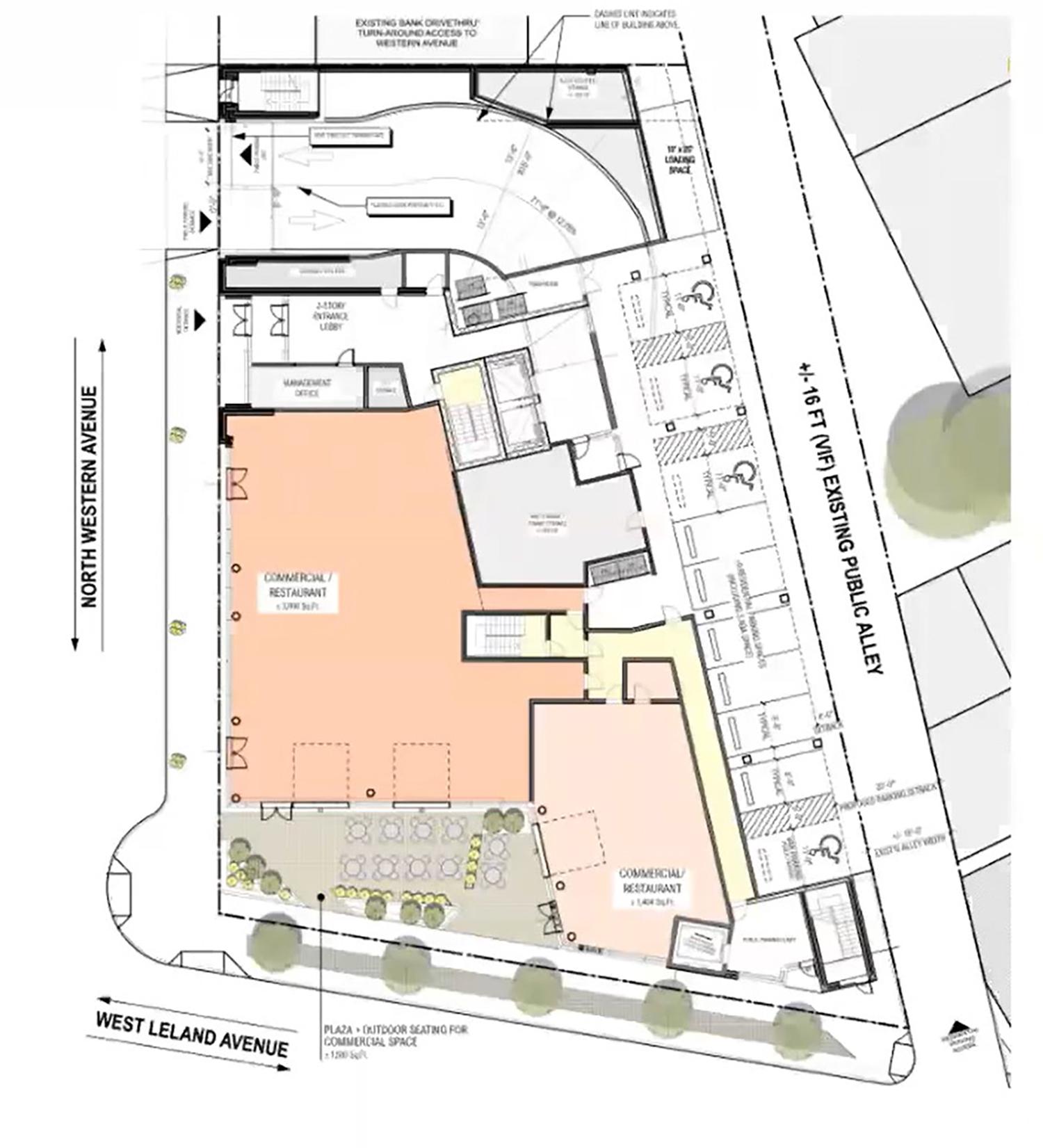 Site Plan for 4715 N Western Avenue. Drawing by DesignBridge