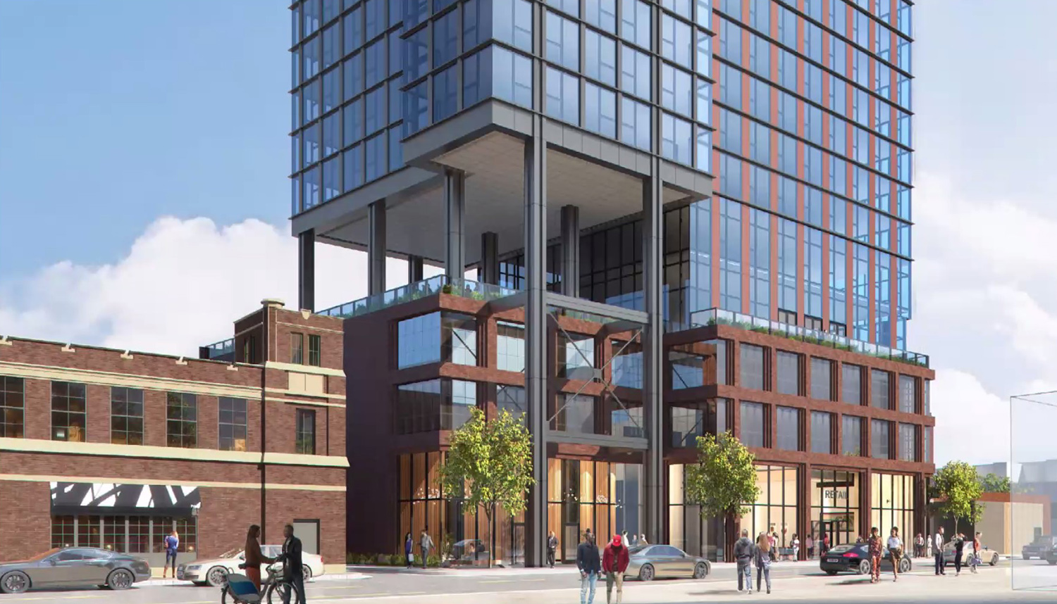 View of 160 N Morgan Street. Rendering by bKL Architecture
