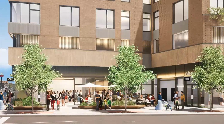 View of Plaza at 4715 N Western Avenue. Rendering by DesignBridge