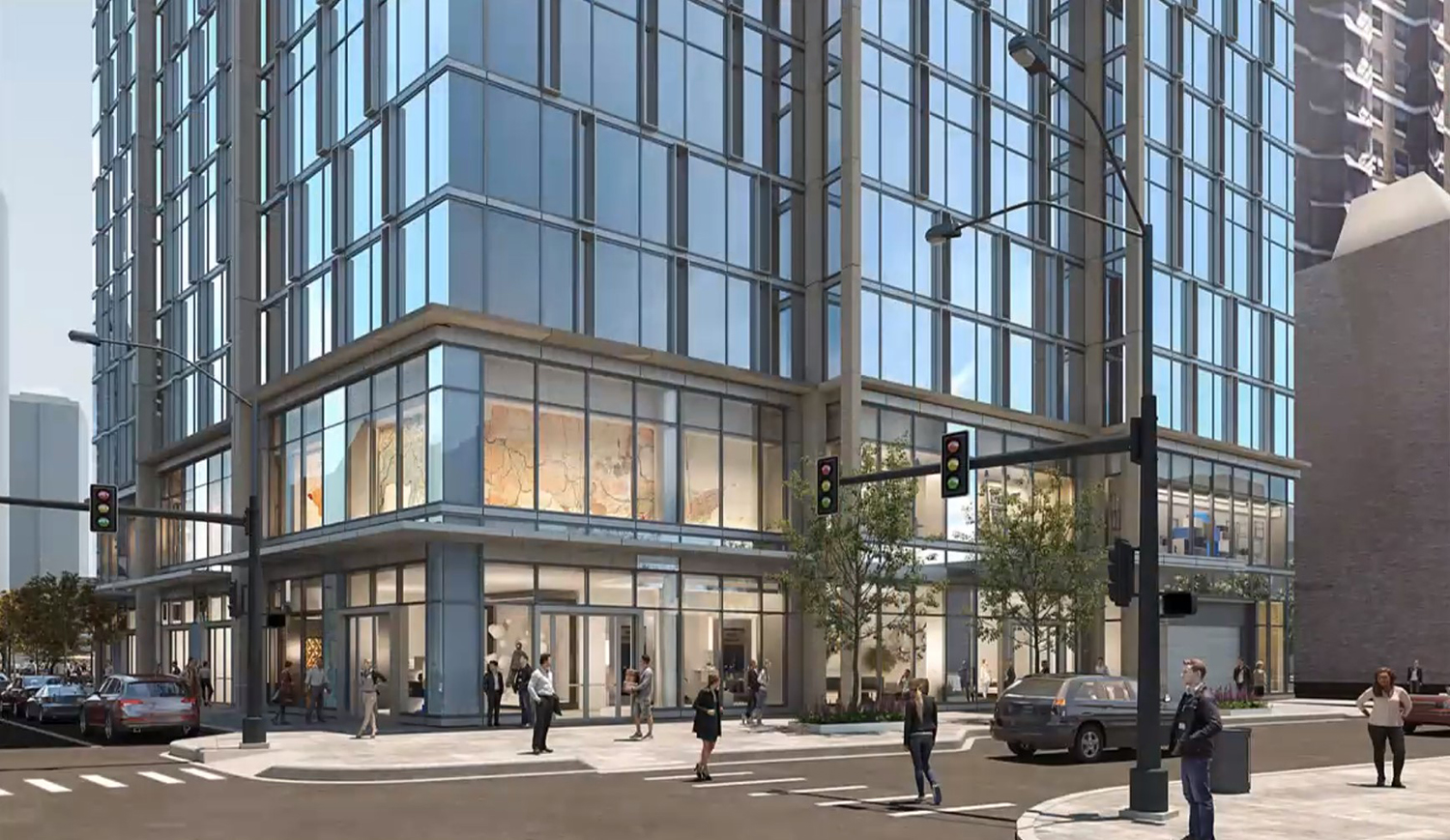 View of 1130 N State Street. Rendering by SCB