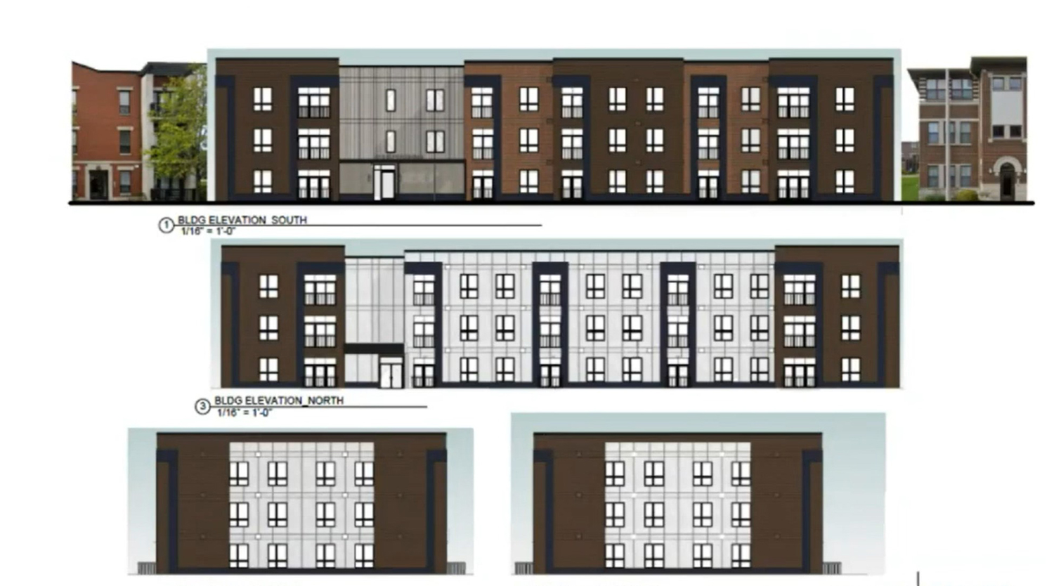 616 E Pershing Road at Oakwood Shores Phase 3. Drawing by Brook Architecture