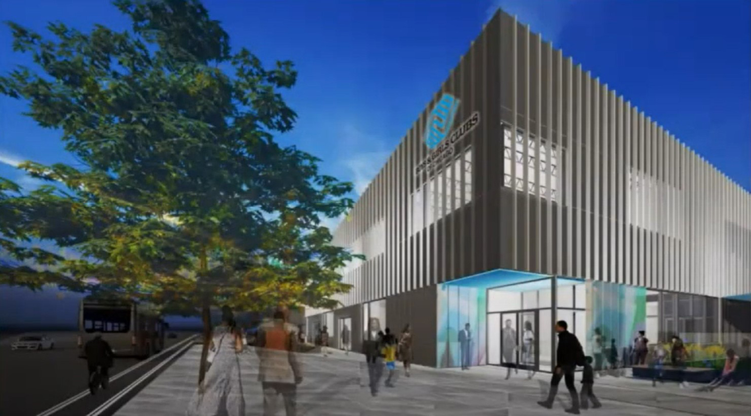 Boys and Girls Club of Chicago at 4433 W Chicago Avenue. Rendering by Boys and Girls Club