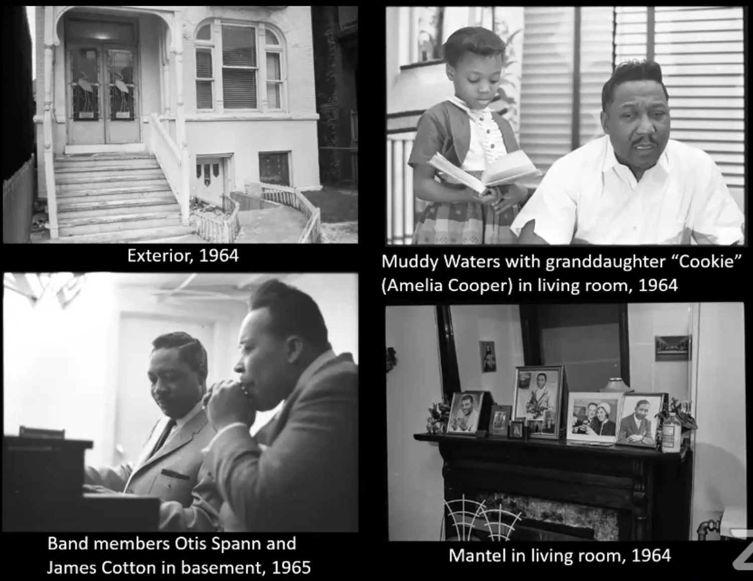 Historic Images of Muddy Waters House at 4339 S Lake Park Avenue. Images by CCL