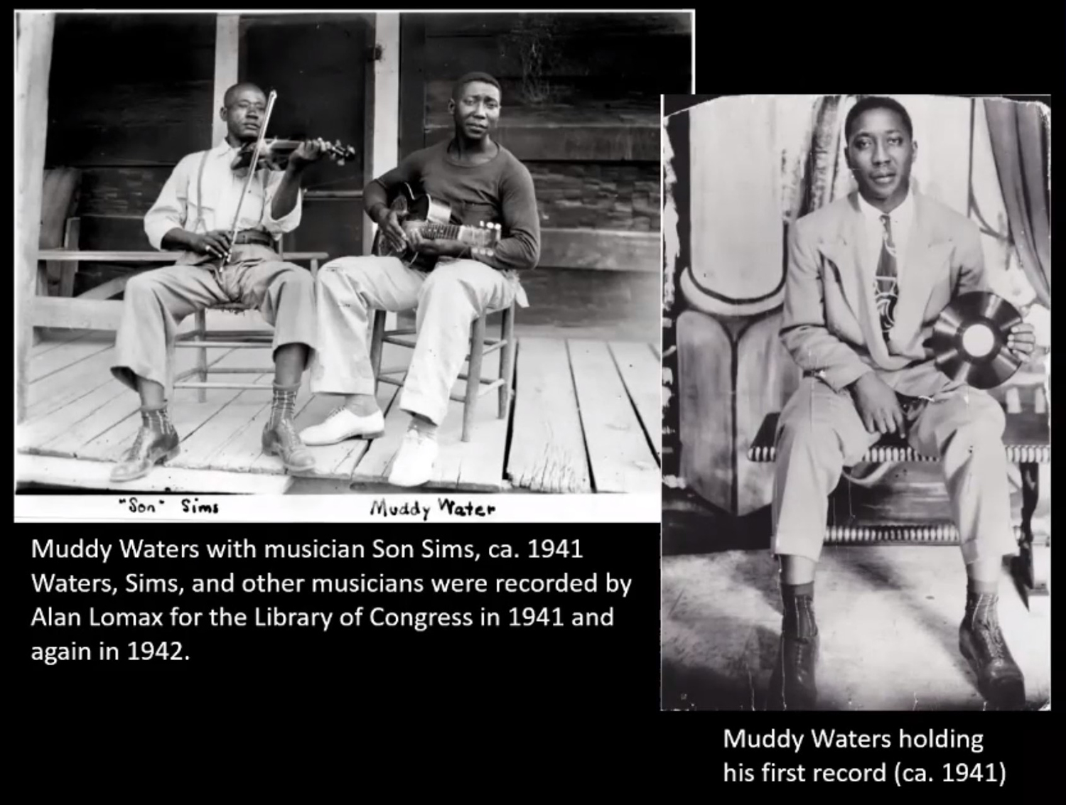 Historic Images of Muddy Waters. Images by CCL