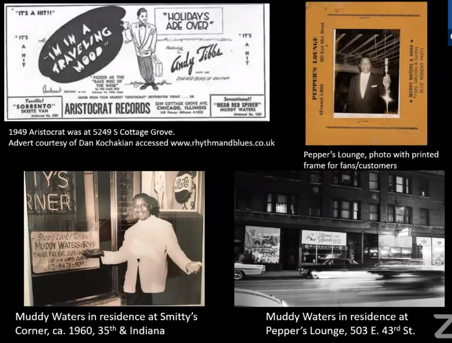 Historic Images of Nightlife Associated with Muddy Waters. Images by CCL