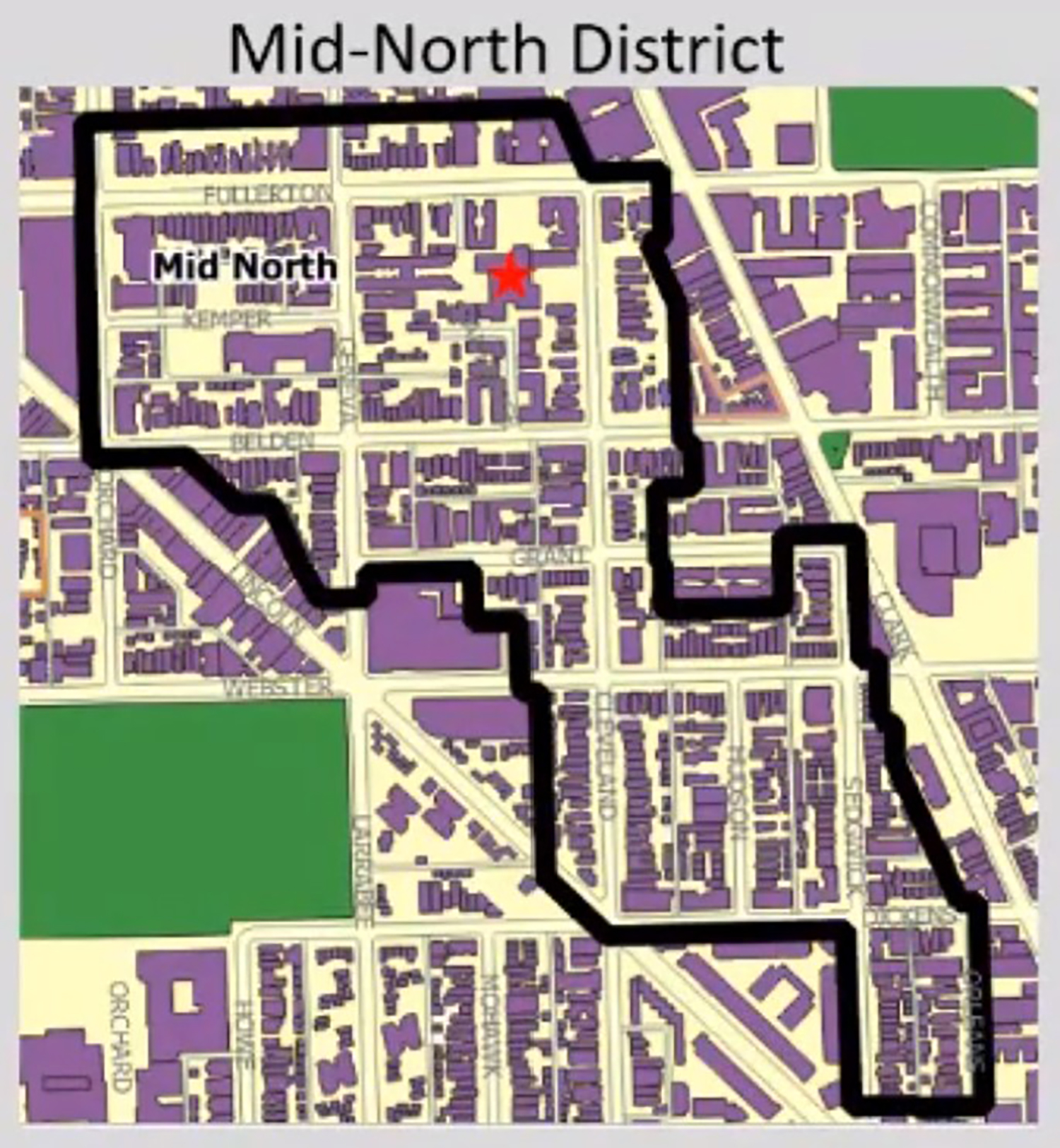 Map of Mid-North Historic District. Image by CCL