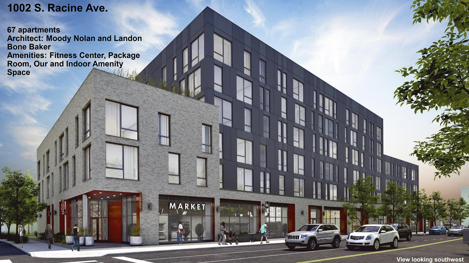 1002 S Racine Avenue at Roosevelt Square 3B. Rendering by Moody Nolan and LBBA