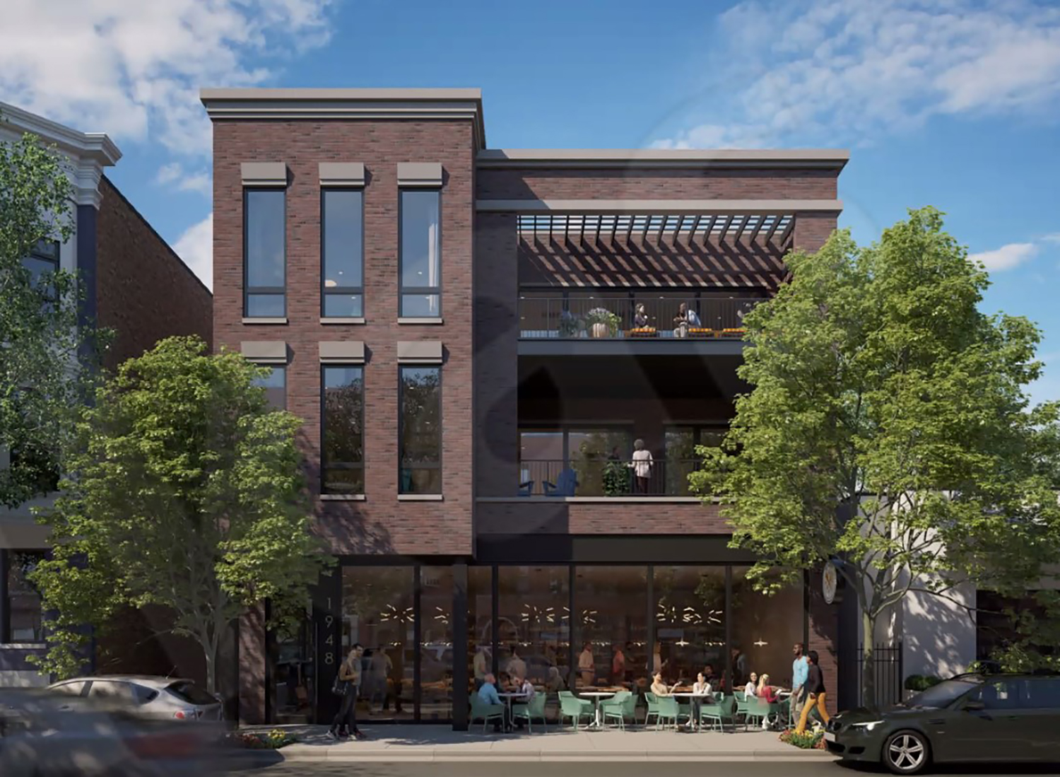 1948 N Halsted Street. Rendering by SPACE Architects + Planners