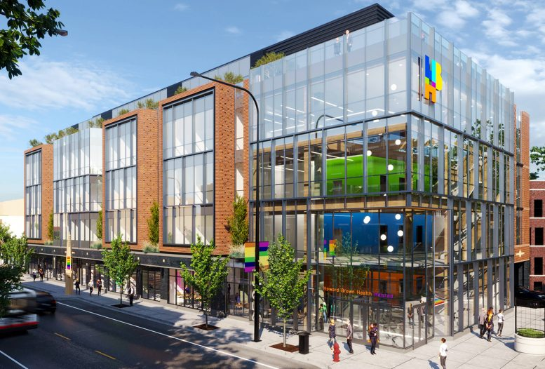 Howard Brown Health at 3501 N Halsted Street. Rendering by Architrave