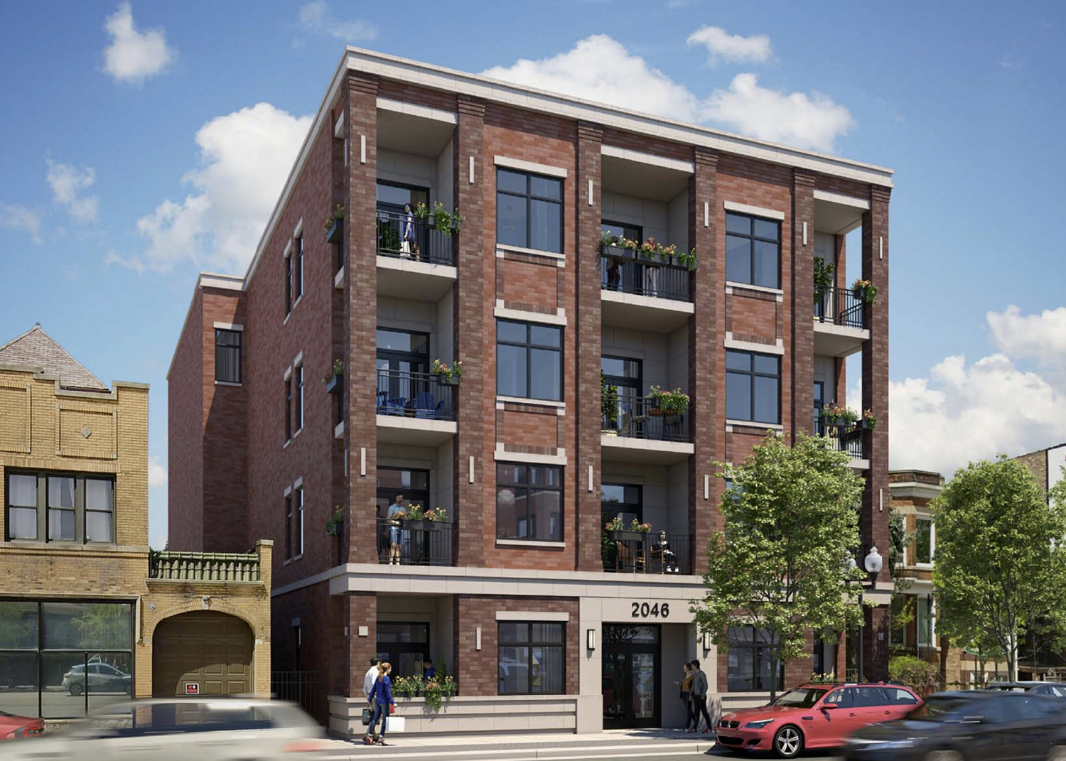 2046 W Irving Park Road. Rendering by SPACE Architects + Planners