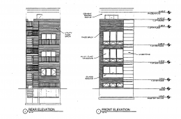 1423 W Huron Street front and rear elevations