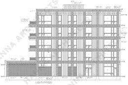 South Elevation of 2406 W Armitage Avenue. Drawing by Hanna Architects