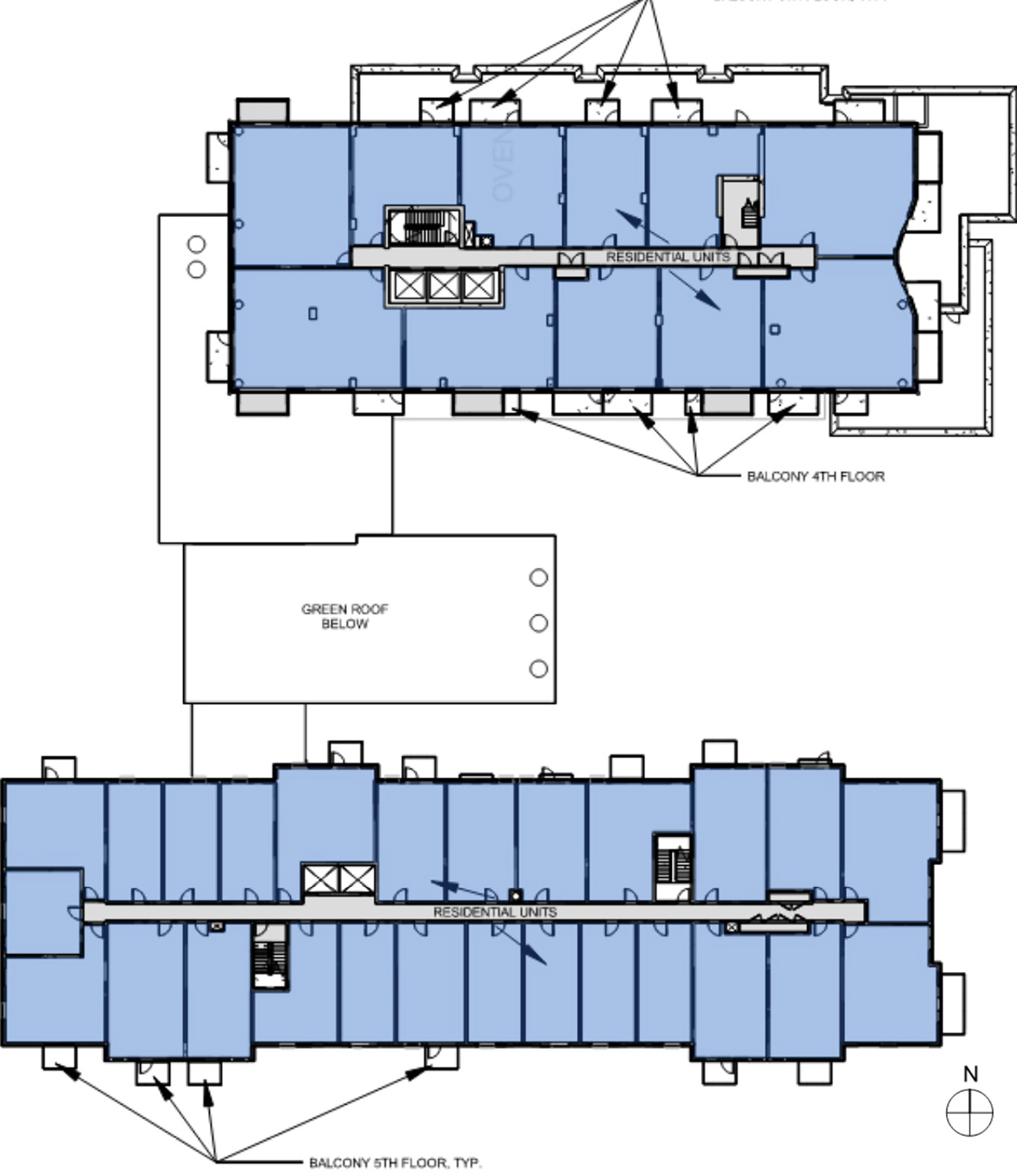 Typical Residential Floor Plan for 3636 N Lake Shore Drive. Drawing by BKV Group