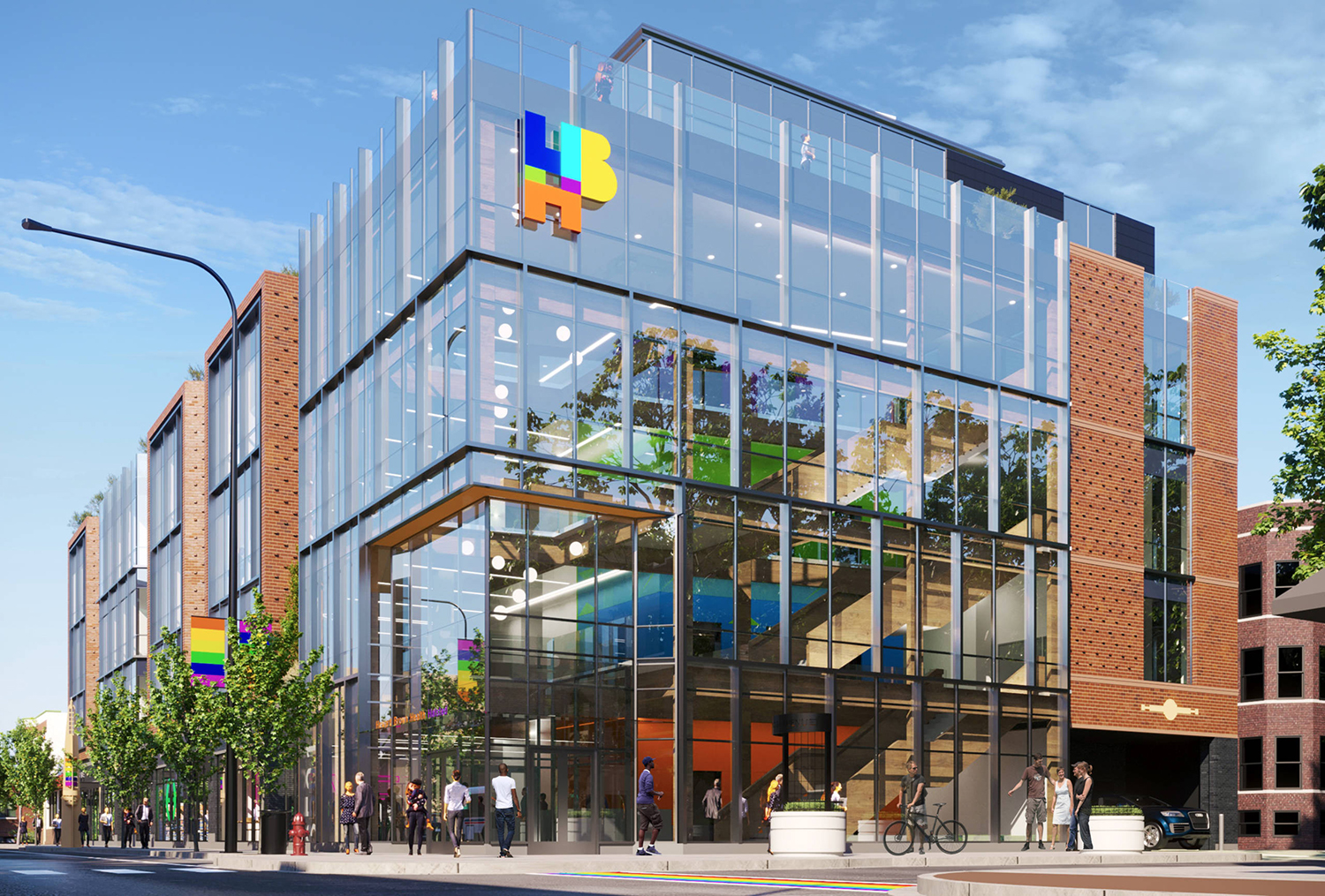 View of Howard Brown Health at 3501 N Halsted Street. Rendering by Architrave