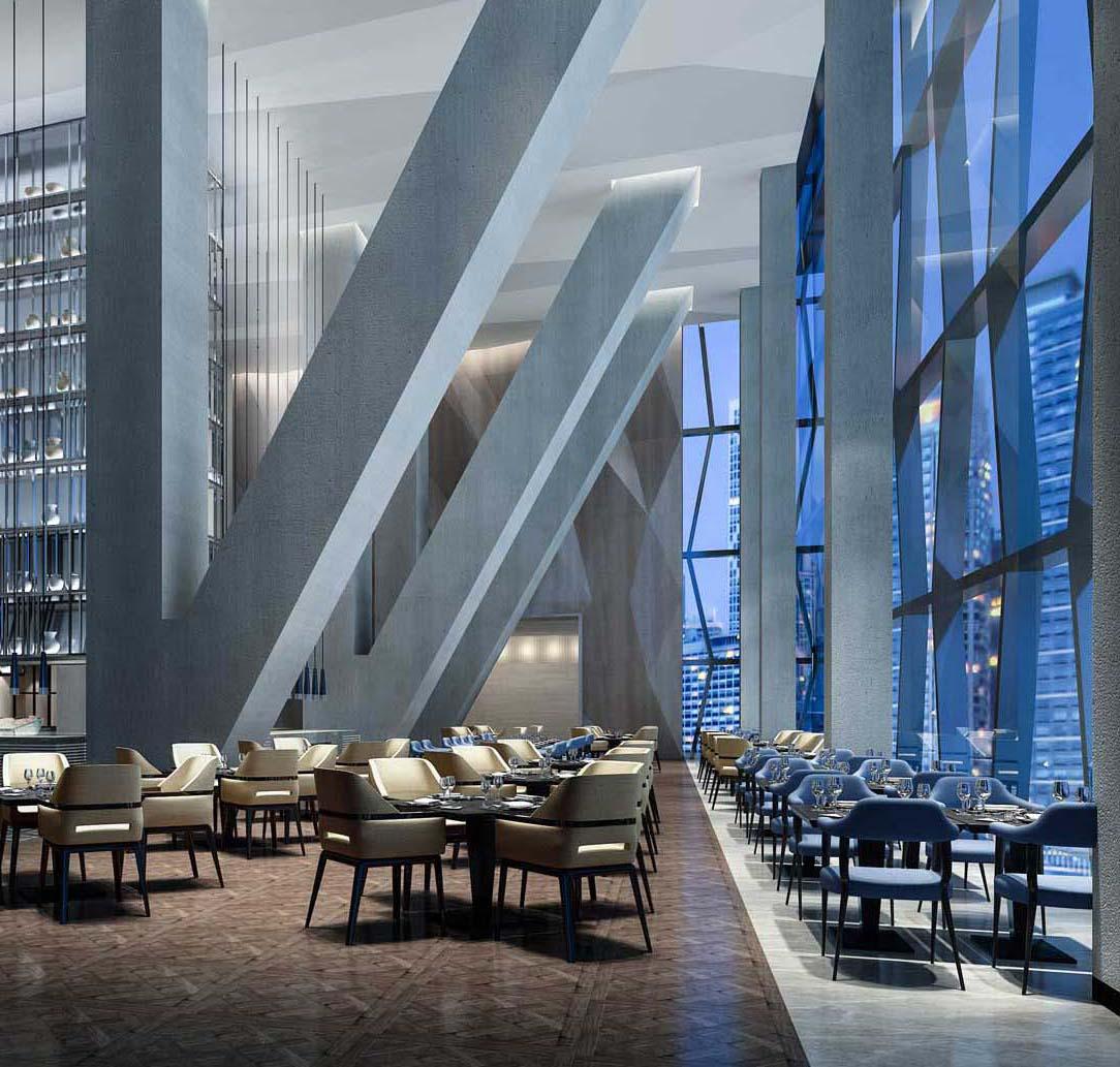 Hotel dining interior