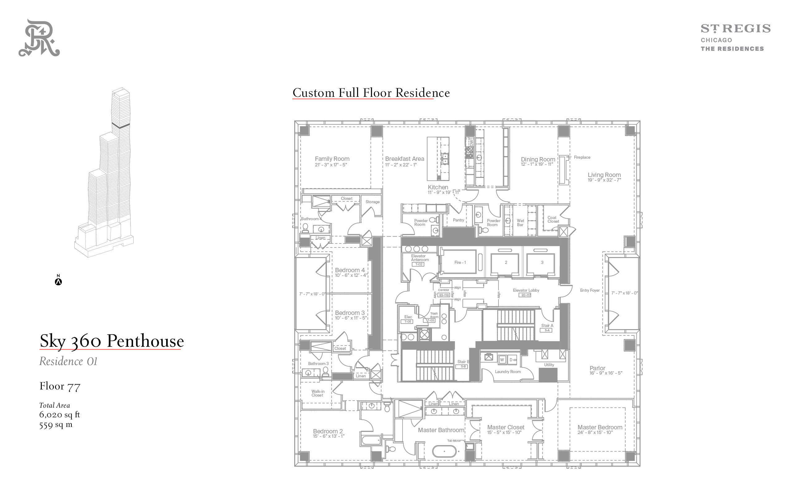 Sample penthouse floor plan