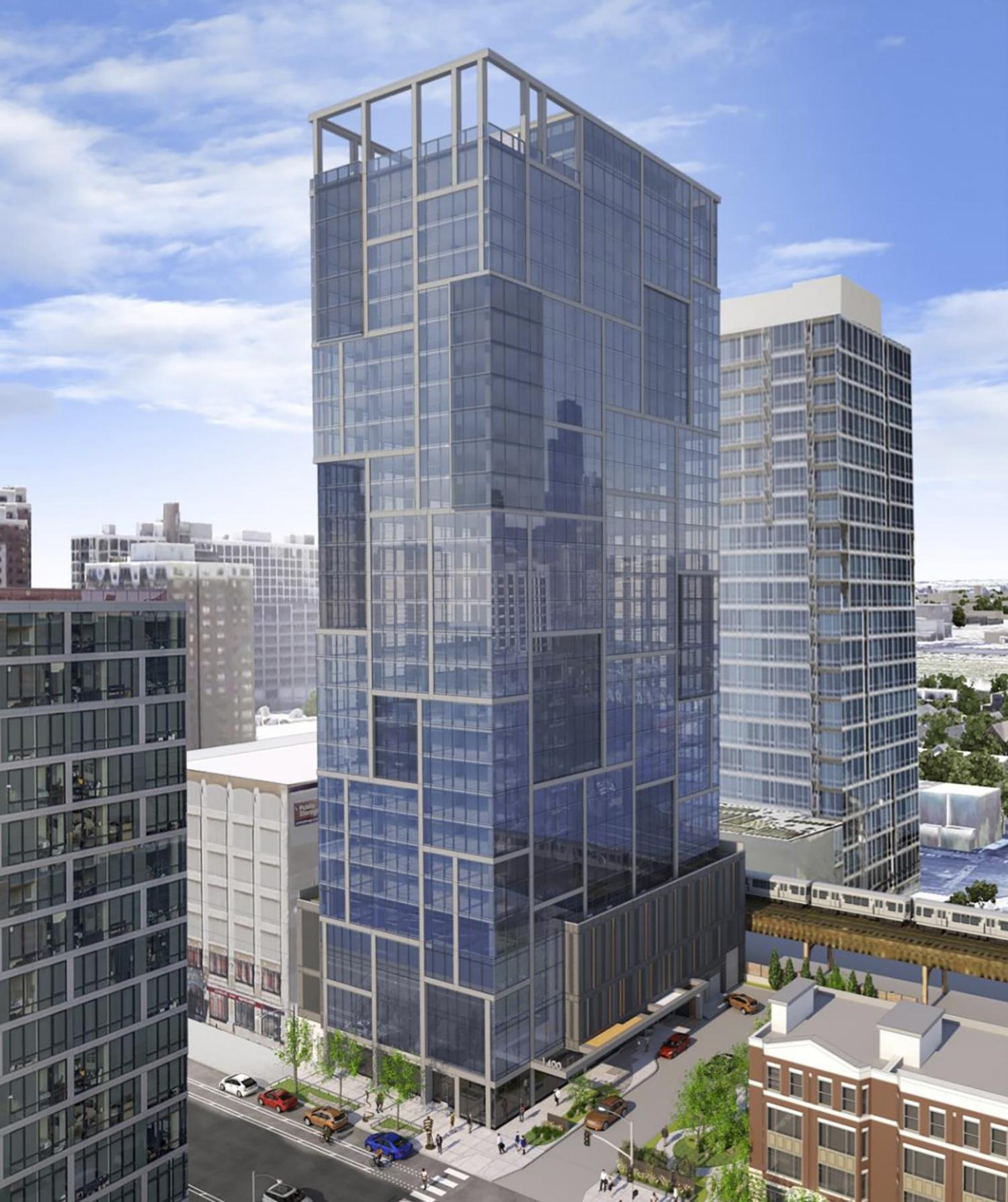 1400 S Wabash Avenue. Rendering by Pappageorge Haymes