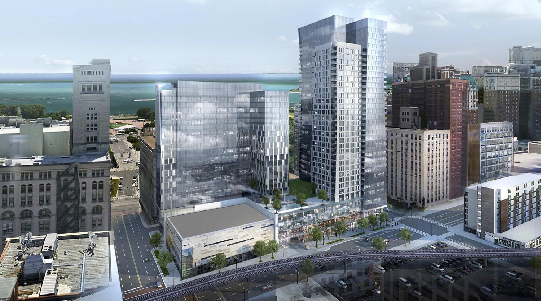 525 S Wabash Avenue. Rendering by BKV Group