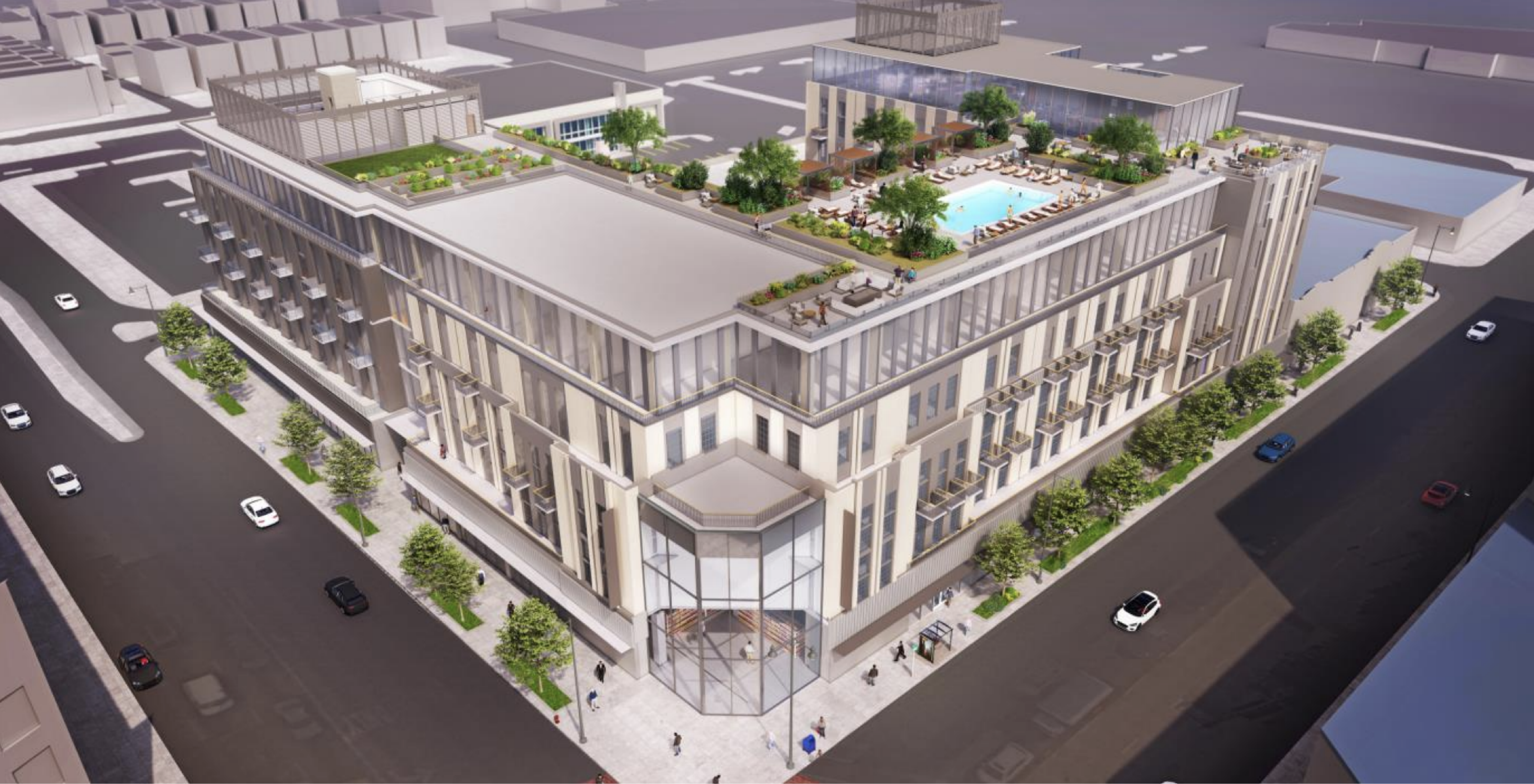 Rendering of 7412 W Irving Park Road by MG2 Architects