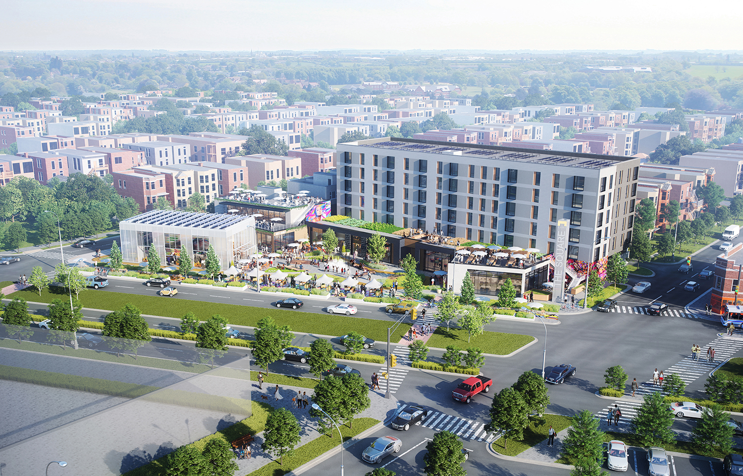 Lawndale Redefined. Rendering by Wight & Company